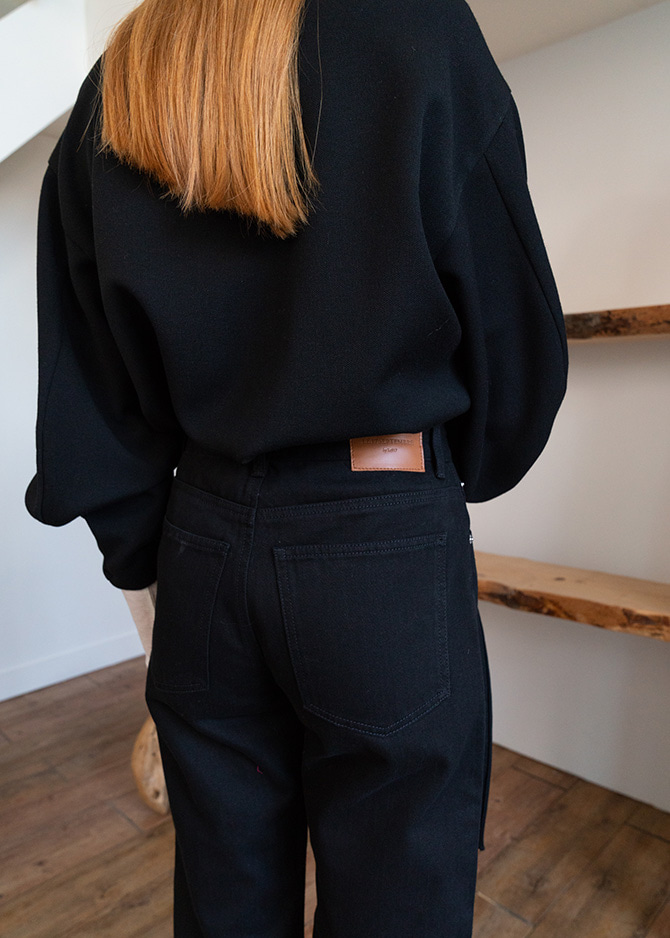 917 Basic Black Denim Pants