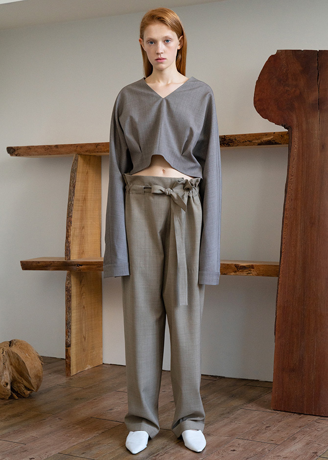 917 Wool Drawstring Trousers(3 Colors)