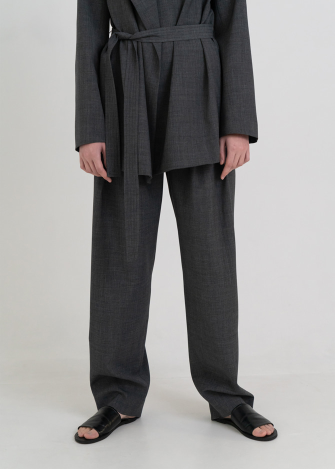 917 Wool Wide Tuck Pants